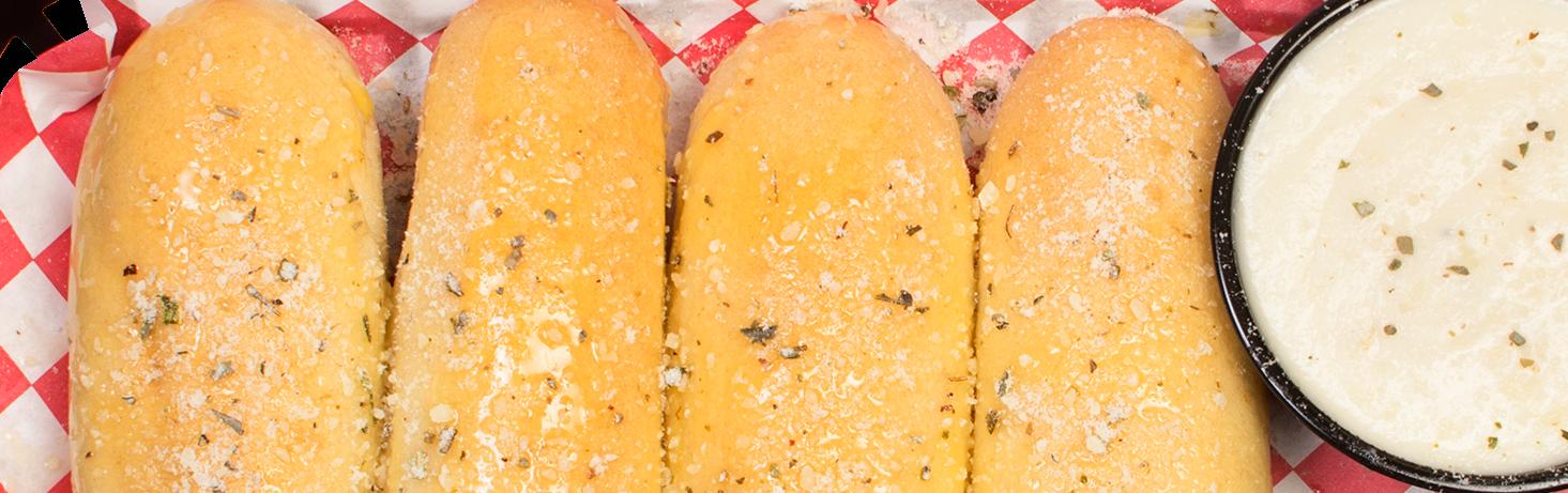 breadsticks with alfredo sauce